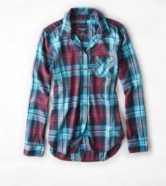 AEO Plaid Boyfriend