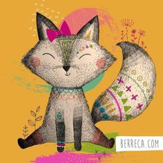 Little fox #berreca #fox #illustration #surface #surfacepattern #zorro #kidsfashion #art
