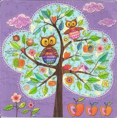 Owls by Mila Marquis by Mailbox Happiness-Angee at Postcrossing, via Flickr