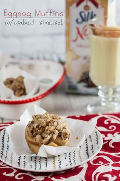 Tender eggnog latte muffins crowned with crunchy, sweet walnut streusel will get you into the holiday spirit!