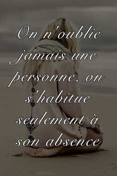 """We never really forget someone, we just get used to the absence of them."" (French to English) Top Quotes, Life Quotes, Cool Words, Wise Words, Plus Belle Citation, Tu Me Manques, French Quotes, Positive Attitude, Decir No"