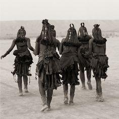 Himba Women Dancing. Namibia