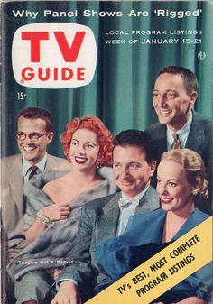 """Bill Cullen, Jayne Meadows, Henry Morgan, Faye Emerson, Garry Moore of """"I've Got a Secret""""  January 15-21 1955"""