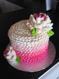 Buttercream cake by the white flower cake shoppe