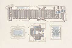 COMMONWEALTH COFFEE IDENTITY, KEVIN CANTRELL DESIGN