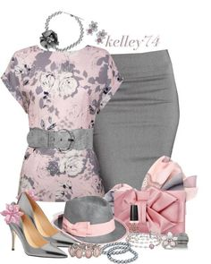 New skirt outfits pink grey 42 Ideas Mode Outfits, Skirt Outfits, Classy Outfits, Chic Outfits, Woman Outfits, Jw Mode, Modelos Fashion, Looks Chic, Complete Outfits
