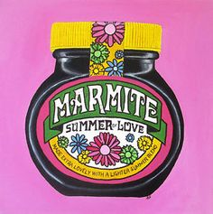 Jar Art, Marmite, Summer Of Love, Good Old, Original Paintings, The Originals, Bottle, Kitchen, Vintage