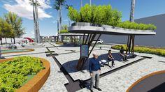 Fiz um projeto de reforma de uma praça na matéria de Ateliê de Paisagismo juntamente com minha amiga Fernanda Assis. A Praça Oswaldo Cruz é...