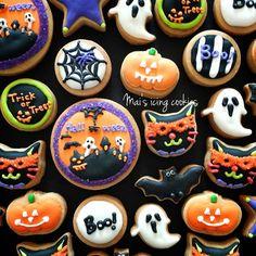 halloween cookies Halloween Food Crafts, Halloween Baking, Halloween Desserts, Halloween Cookies, Halloween Treats, Fall Cookies, Cute Cookies, Sugar Cookies, Cake Pops