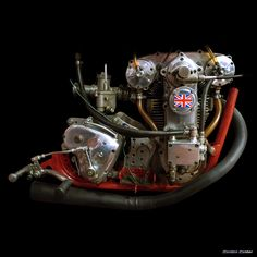 N0 105: 1959 LCH 125cc RACING BIKE ENGINE | by Gordon Calder