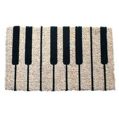 The Piano Hand Woven Coir Door Mat is perfect for music lovers! This densely woven door mat features a piano key design. Featuring all-natural coconut. Piano Gifts, Music Gifts, Piano Hands, Coir Doormat, Piano Keys, Key Design, Welcome Mats, Joss And Main, Musical