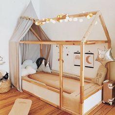 Olli Ella See-ya Suitcase in this whimsical kids bedroom Big Girl Bedrooms, Little Girl Rooms, Baby Bedroom, Girls Bedroom, Baby Zimmer Ikea, Boy Room, Kids Room, Ikea Bed Hack, Christmas Bedroom