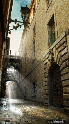 Gothic quarter - Barcelona, Catalonia.