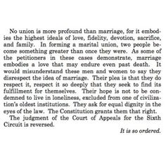 A paragraph from the #SCOTUS decision to make same-sex marriage legal in all 50 states. So incredibly beautiful. #LoveWins #LoveIsEqual ❤️