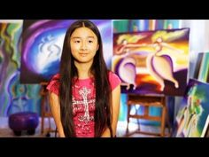 Child prodigy sisters, Victoria Yin, 14, and Zoe Yin, 11, are incredible painters from Massachusetts. The colors and shapes in their paintings are absolutely brilliant. Then when they explain the philosophy behind their paintings, especially Victoria, it is pretty impressive.
