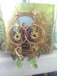 Sun lizard earrings SOLD