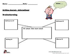 Here is a single writing prompt that allows students to go through the entire writing process of brainstorming.