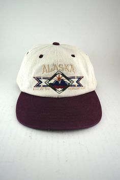c26078c3383e5 Retro VTG Alaska Embroidered Adjustable Strapback Hat    Classic Two Tone  Baseball Cap    Low Profile Fit