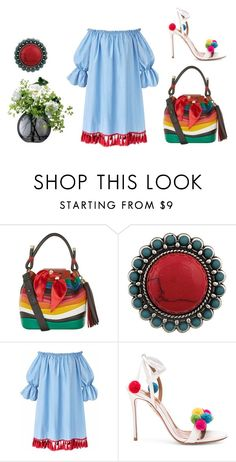 """""""Untitled #3015"""" by doinacrazy ❤ liked on Polyvore featuring Salvatore Ferragamo, Aquazzura and LSA International"""