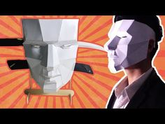 Paper Craft - How to make Low Poly Mask - design by kongorilla