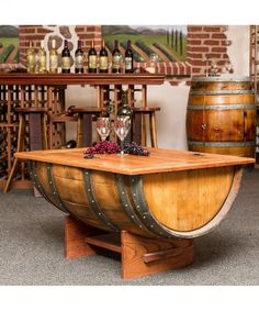 Stylish barrel living room table