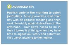 PRWeb advanced tip on publishing timing