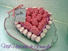 Tarta chuches / gominolas / corazon rosa