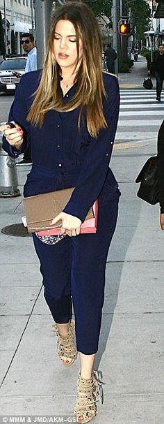 Khloe Kardashian wearing Yves Saint Laurent Belle De Jour Clutch