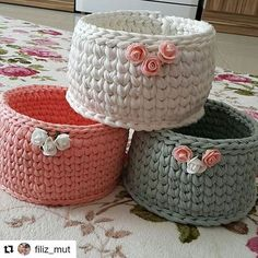 Crochet Case, Crochet Storage, Knit Crochet, Learn To Crochet, Diy Crochet Basket, Crochet Bowl, Knitting Projects, Crochet Projects, Crochet Home Decor