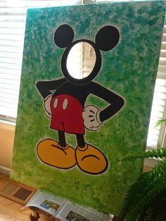 Mickey Mouse Birthday Party Face-In-Hole Photo Tutorial by Kimberlea