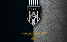 Download wallpapers Heracles Almelo FC, 4K, Dutch football club, leather texture, logo, emblem, Eredivisie, Almelo, Netherlands, football, Dutch Football Championship