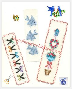 Cross Stitch Bookmarks, Cross Stitch Embroidery, Cross Stitch Patterns, Stitch 2, Gift Wrapping, Handmade, Crafts, Book Marks, My Works
