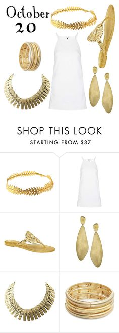 """Halloween Day 20 Goddess"" by lucychiozza ❤ liked on Polyvore featuring Johnny Loves Rosie, Topshop, Jack Rogers, Marco Bicego and Nanette Lepore"