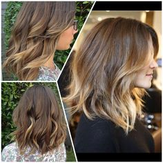 Pinterest hairspiration - pin on the right, my hair on the left. Long bob, shattered bob, lob haircut, ombre hair. Hair by @seaaack @daryasalon Nantucket