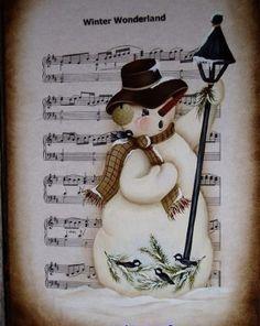 Snowman on music