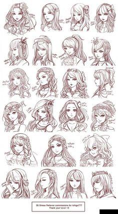 coiffures mangas :) Plus
