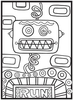 SPARK Robots Rule Coloring Book 6 Sample Pages