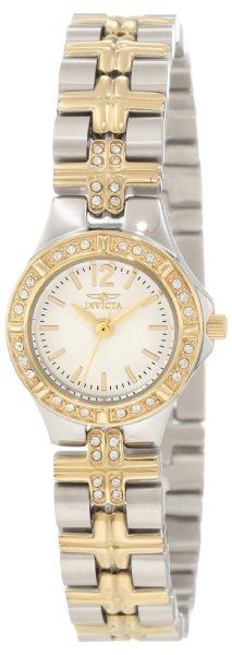 Invicta Women's 0127 Wildflower Collection Crystal Accented Stainless Steel Watch
