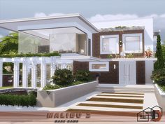 Malibu 2 house by from TSR for The Sims 4