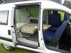 Bus Interior, Campervan Interior, Peugeot Partner Camper, Camper Conversion, Vw Bus, Camper Van, Van Life, Mini, Conversation