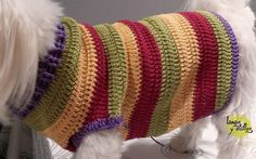 Crochet dog sweater free pattern with video tutorial