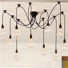 ペンダントライト 天井照明 工業照明 北欧風照明 10灯