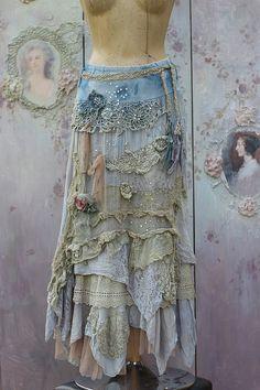 RESERVED BALANCE PAYMENTBarocco  skirt    romantic от FleursBoheme