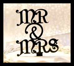 Mr. and Mrs. cake topper.