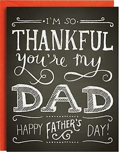 Charming chalkboard art to let Dad know how thankful you are to have him! .... this is another perfect project to be created using #Cricut ;)