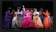 This design is from Broadway's Cinderella the subjects are the ugly stepsisters and the outfits are amazing.  The are just a little off in order to give a weird look and a little over the top to show how highly they think of themselves.
