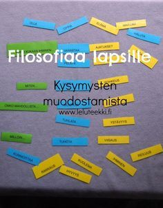 Leluteekki: filosofiaa lapsille - filosofisia kysymyksiä muodostamassa A Classroom, Early Childhood Education, Creative Thinking, Diy Projects To Try, Problem Solving, Kindergarten, Preschool, Religion, Teacher