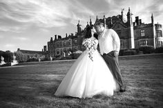 Copy right Black Mill Photography  #bride #groom #wedding #blackandwhite #AllertonCastle