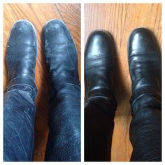 Norwex Leather Shine, before and after. Great on sofas, belts, purses, car interiors, and even wood that's lost its luster. http://www.amandadesonia.norwex.biz