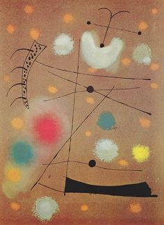 Mirò - Painting on cellotex.